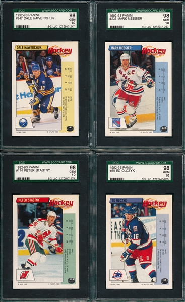 1992-93 Panini Hockey Lot of (13) W/ Messier SGC 98 *GEM MINT*