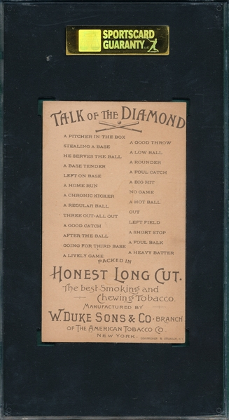 1893 N135 A Foul Balk, Talk of the Diamond Baseball SGC 80