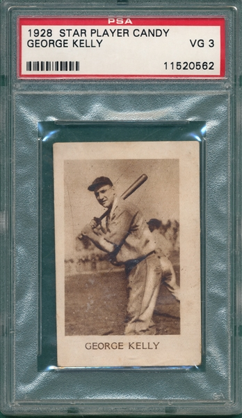 1928 Star Player Candy George Kelly PSA 3 *Only 5 Graded*