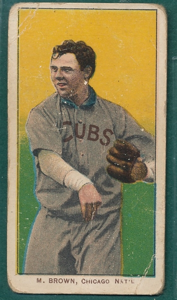 1909-1911 T206 Brown, Cubs On Shirt, Piedmont Cigarettes