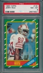 1986 Topps FB #161 Jerry Rice PSA 8 *Rookie*