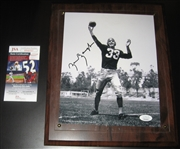 Sammy Baugh Signed 8 X 10 JSA