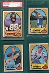 1970 Topps Football Lot of (92) W/ Starr & Alan Page PSA