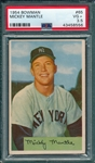 1954 Bowman #65 Mickey Mantle PSA 3.5
