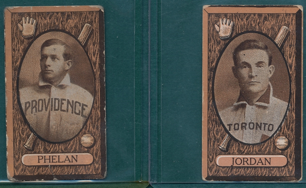 1912 C46 Phelan & Jordan Imperial Tobacco, Lot of (2)
