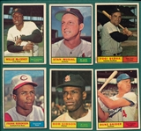 1961 Topps Lot of HOFers (12) W/ Musial