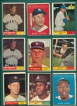 1961 Topps Lot of (335) W/ Mantle MVP & Marichal, Rookie
