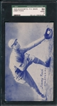 1926-29 Exhibits Jimmy Foxx, Postcard Back, SGC 50 *Rookie*