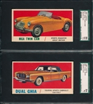 1961 Topps Sports Cars #13 MGA Twin Cam & #42 Dual Ghia, Lot of (2)