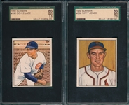 1950 Bowman #196 Lade & #238 Jones, Lot of (2) SGC 86