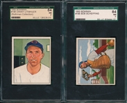 1950 Bowman #168 Scheffing & #198 Litwhiler, Lot of (2) SGC 84