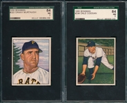 1950 Bowman #203 Murtaugh & #244 Coogan, Lot of (2) SGC 84