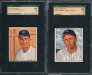 1950 Bowman #155 Shea & #216 Porterfield, Lot of (2) SGC 84