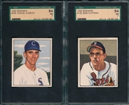 1950 Bowman #185 Judson & #192 Chipman, Lot of (2) SGC 84