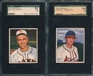 1950 Bowman #191 Starr & #239 Howerton, Lot of (2) SGC 84