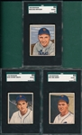 1950 Bowman #241 Berry, #242 Kryhoski & #243 Groth, Lot of (3) SGC