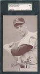 1947-66 Exhibits Drysdale & Mantle, Lot of (2), SGC