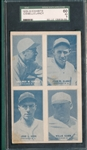 1929-30 Exhibits 4 On 1, Cissell/Clancy, SGC 60 *PC Back*
