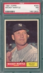 1961 Topps #300 Mickey Mantle PSA 7