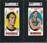 1969-70 Topps BSKT #38, #86 & #88., Lot of (3) SGC 7
