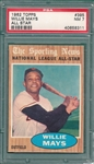 1962 Topps #395 Willie Mays, AS, PSA 7
