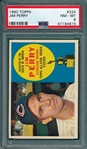 1960 Topps #324 Jim Perry PSA 8 *Rookie*