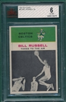 1961 Fleer BSKT #62 Bill Russell, IA, BVG 6