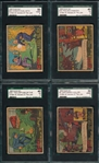 1936 G-Men & Heroes of the Law, Gum Inc., Lot of (8) SGC
