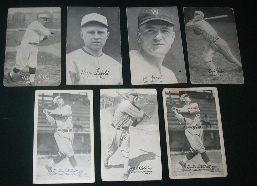1921-24 Exhibits Lot of (10) W/ Adams