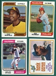 1974 Topps Complete Set (660) Plus Traded & Red Checklists