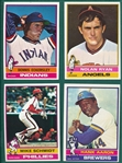 1976 Topps Complete Set (660) Plus Traded W/ Eckersley, Rookie