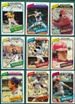 1980 Topps Complete Set (726) W/ Rickey Henderson, Rookie