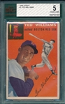 1954 Topps #1 Ted Williams BVG 5