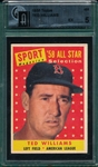 1958 Topps #485 Ted Williams, AS, GAI 5