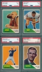 1960 Fleer Football Complete Set (132) W/ #124 Jack Kemp, Rookie, PSA 7