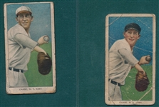 1909-1911 T206 Chase, White & Dark Cap, Lot of (2), Sweet Caporal Cigarettes