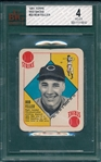 1951 Topps Red Back #22 Bob Feller BVG 4