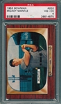 1955 Bowman #202 Mickey Mantle PSA 4