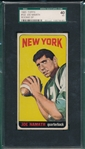 1965 Topps FB #122 Joe Namath SGC 40 *Rookie*