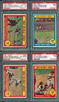 1961 Topps World Series Complete Subset, Lot of (8), W/ PSA 8