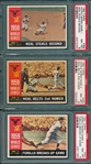 1960 Topps World Series Complete Subset, Lot of (7), W/ PSA 8s