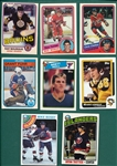1975-88 Topps & O-Pee-Chee Lot of (8) Rookie Cards of HOFers W/ Bossy