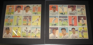 1941 Play Ball (2) Uncut Sheets W/ #1-24, Many HOFers Including Ted Williams