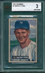 1951 Bowman #1 Whitey Ford BVG 3 *Rookie*