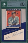 2019 Historic Autographs, 1934 Goudey, #23 Charley Gehringer, 2/13, Beckett Authentic