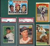 1951-72 Bowman/Topps Lot of (5) W/ Aaron