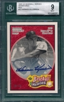 2005 UD Baseball Heroes Signatures, Red, #32 Harmon Killebrew, 18/49, Beckett 9