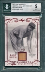 2017 Leaf Babe Ruth Immortal Collection Bat, Red, 9/10, Beckett 9