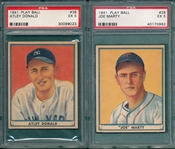 1941 Play Ball #28 Marty & #38 Donald, Lot of (2), PSA 5