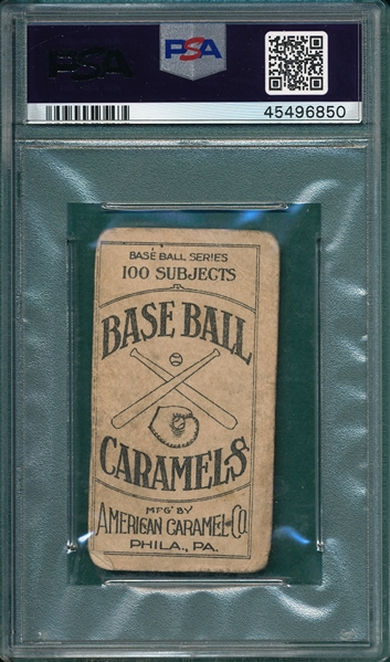 1909 E90-1 Gibson, Back View, American Caramel Co., PSA 1.5